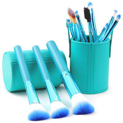 Ensemble de Pinceaux à Maquillage Doux 12pcs