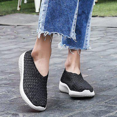 Women's Creative Breathable Woven Casual Shoes Super Light