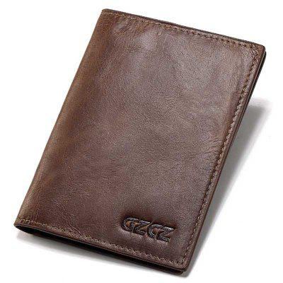 GZCZ GZ0011 - Coffee - M Men's Classic Business Wallet