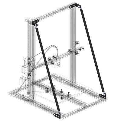 YPSlgtj - 01 3D Printer Upgrade Accessories Drawbar Kit