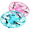 Children Gesture Control Induction Four-axis UFO Mini Drone - BLUE IVY