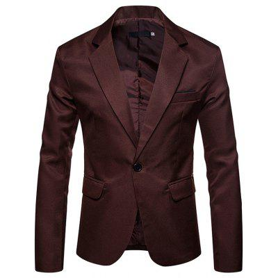 Men's Blazer Large Size Solid Color Lapel