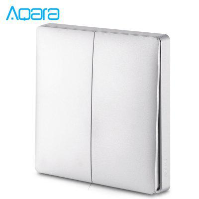 Aqara Wall Intelligent Linkage Light Control Switch Panel Single Fire Double Key Version ( Xiaomi Ecosystem Product )