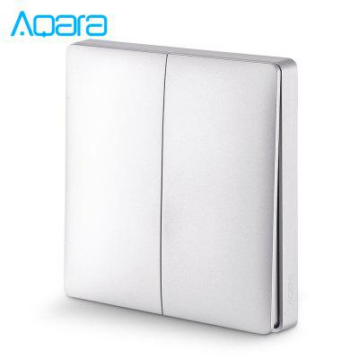 Aqara Wall Intelligent Linkage Light Control Home Schakelpaneel Zero Fire Double Key-versie (Xiaomi Ecosystem Product)