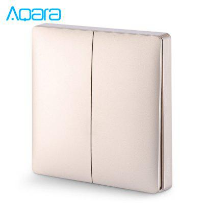 Aqara Wall Intelligent Linkage Light Control Home Switch Panel ( Xiaomi Ecosystem Product ) Zero Fire Double Key Version