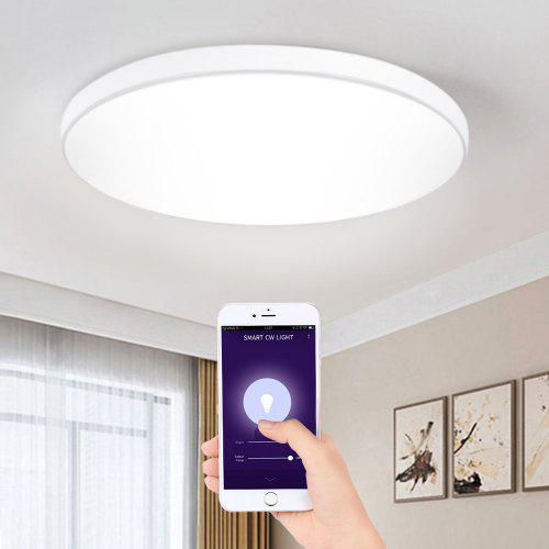 Gearbest Alfawise SC01 330mm Diameter Smart Voice Control Ceiling Light - White Support Amazon Alexa / Google Home / IFTTT