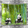Panda Bamboo Forest Home Decoration Tapestry - SEAWEED GREEN