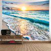 Sunset Beach Home Decor Tapestry - MULTI-A