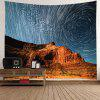 Loess Landscape Home Decor Tapestry - MARBLE BLUE