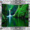 Waterfall Landscape Decorative Tapestry - MEDIUM FOREST GREEN