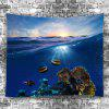 Marine Life Home Decor Tapestry - BLUEBERRY BLUE