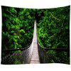 Suspension Bridge Creative Home Decor Tapestry - JUNGLE GREEN