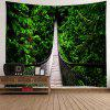 Suspension Bridge Creative Home Decor Tapeçaria - VERDE DE FLORESTA