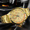RISTOS 9330 Men's Watch Luminous Calendar Steel Strip Casual Waterproof - GOLD