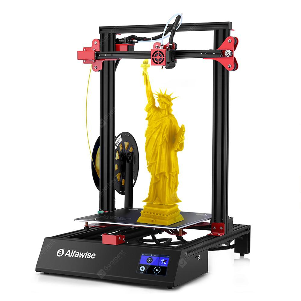 Alfawise U20 ONE 3.5 inch Touch Screen 3D Printer 300 x 300 x 400mm Double Z-axis  - Black Touch Screen EU Plug - 265.35€