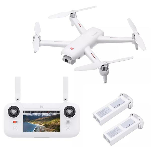 FIMI A3 5.8G 1KM FPV with 2-axis Gimbal RC Drone ( Xiaomi Ecosystem Product ) - White 2 Batteries