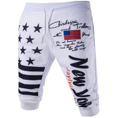Men's Pants Trousers Casual Personality Star Letter Printing