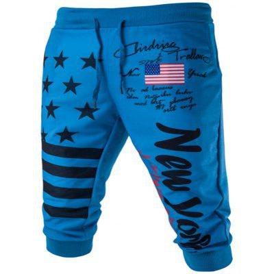 Shorts masculinos Casual Personality Star Letter Printing