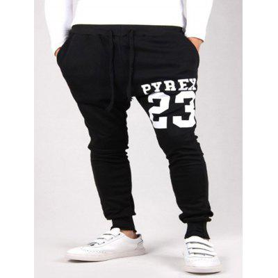 Men's Trousers Digital Letter Printing Casual