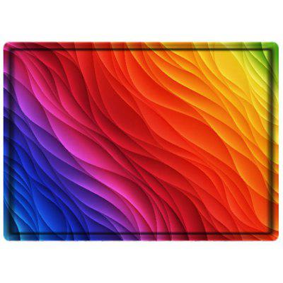 Rainbow Pattern Bedroom Rug Carpet