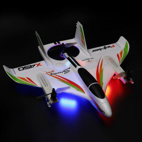 XK X450 6-way Brushless Vertical Takeoff / Landing Fixed-wing Airplane Aircraft