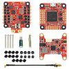 HGLRC FD F7 Dual Gyro 60A 3 - 6S BLHeli 32 4 in 1 VTX 400mW STACK Fly Tower - RED