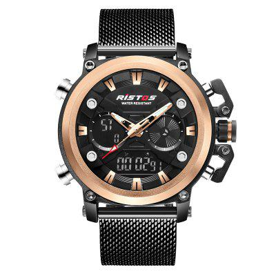 RISTOS 9399 Men Dual Display Multi-Function Watch Waterproof