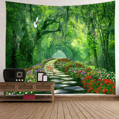 Tapeçaria Forest Flower Sea Pattern Home Decor