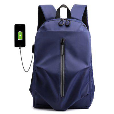 Fashion Men Casual Backpack USB Charging Hole