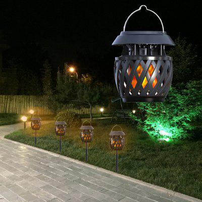 ELS - 05F Solar Flame LED lampa na trávu USB Decor Light