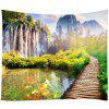 Forest Flower Sea Home Decor Tapestry - AVOCADO GREEN