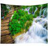 Bridge Water Water Pattern Home Decoration Tapestry - PINE GREEN