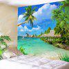 Home Decoration Beach Pattern Tapestry - DAY SKY BLUE