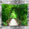 Small Road Wood Home Decor Tapestry - SEAWEED GREEN