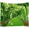 Tree Rattan Pattern Home Decor Tapestry - SEAWEED GREEN