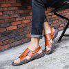Men Breathable Leather Sandals Anti-slip - LIGHT BROWN