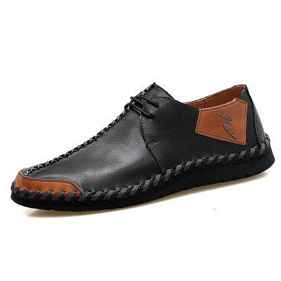 Men Handmade Large Size Casual Shoes Anti-collision Toe