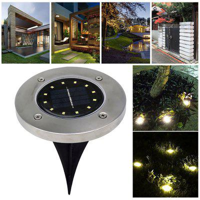 Solar-energy 12 LEDs Buried Lawn Light for Outdoor Ground Garden Decorative