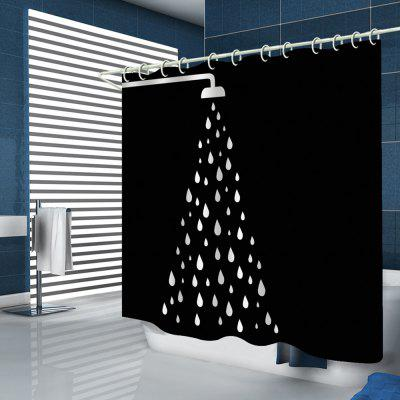 Water Spray Faucet Shower Curtain