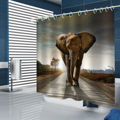 Home Cute Elephant Pattern Shower Curtain
