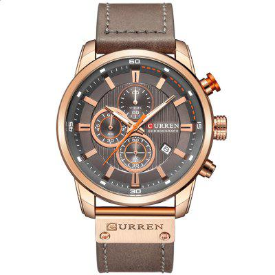 CURREN 8291 Men Quartz Watch Waterproof
