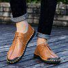 Men Handmade Large Size Casual Shoes Anti-collision Toe - BROWN
