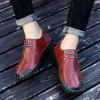 Men Handmade Large Size Casual Shoes Anti-collision Toe - RED WINE