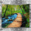 Stream Water Trail Home Decoration Tapestry - GREEN ONION