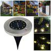 Solar-energy 12 LEDs Buried Lawn Light for Outdoor Ground Garden Decorative - SILVER