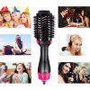 Negative Ion Straight Curly Hair Comb - BLACK