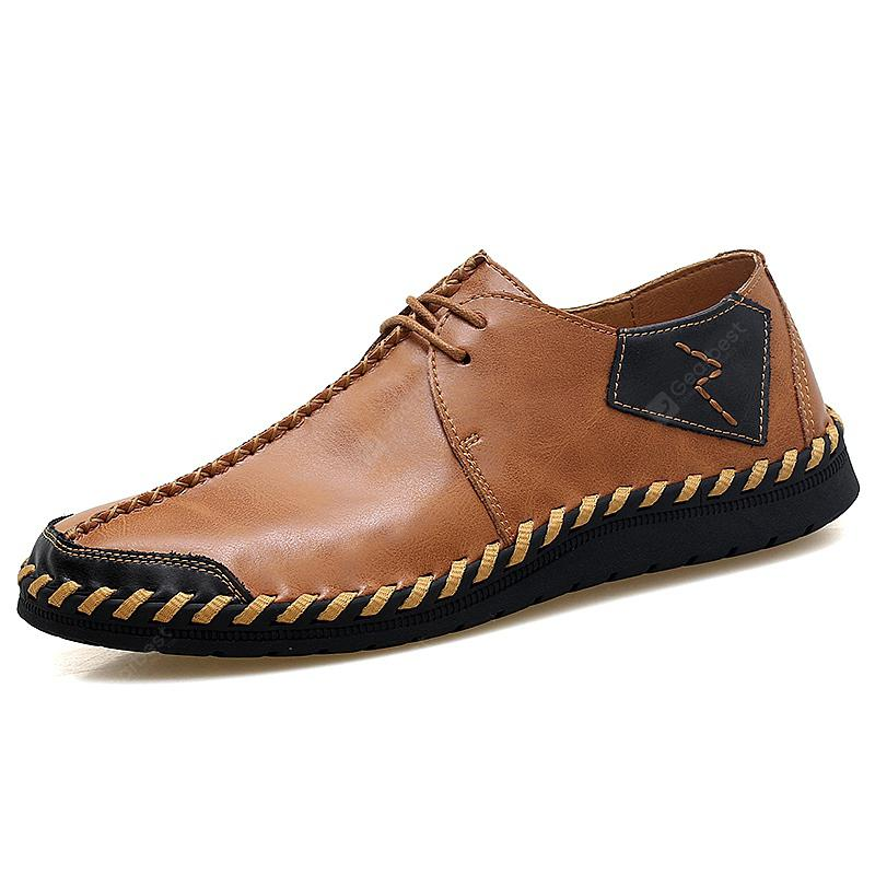 9f20378a8f0c9 Men Handmade Large Size Casual Shoes Anti-collision Toe