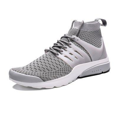 AILADUN Men's High-top Breathable Sports Shoes Lace-up