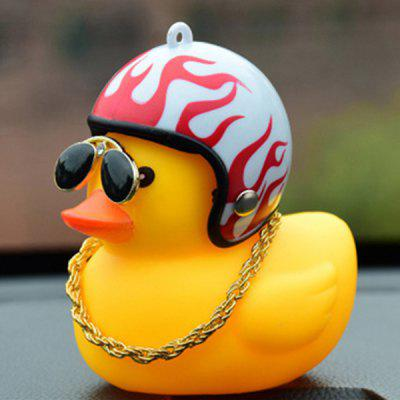 Creative Duck Shape Car Decoration Bicycle Horn Light Bell