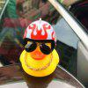 Creative Duck Shape Car Decoration Bicycle Horn Light Bell - RUBY RED